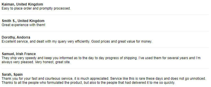 Pharmacy Mall Customer Feedbacks