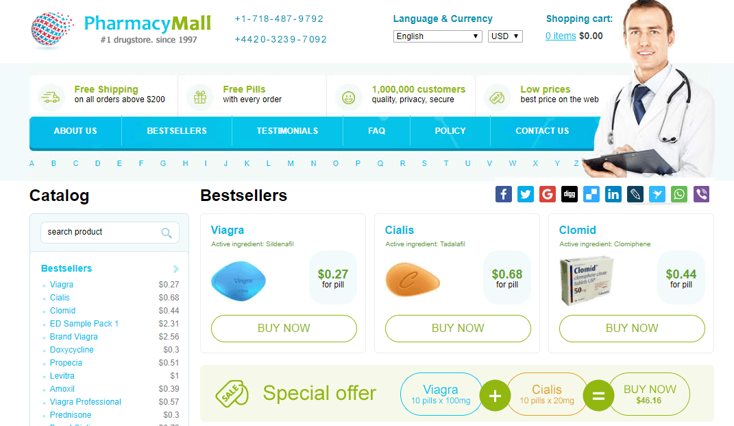 A Pharmacy Mall Website